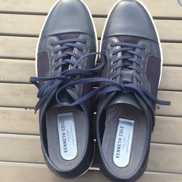 Kenneth Cole Other - Kenneth Cole Blue Mixed Platform Sneaker - Size 11